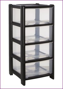 DEEP PLASTIC DRAWERS 4 HIGH MADE IN UK