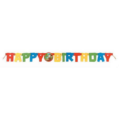 4ft Curious George Happy Birthday Banner - 1
