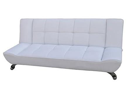 Vogue bianco divano letto in similpelle finitura