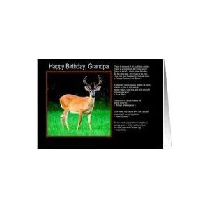 .com: Happy Birthday, Grandpa - Stag Deer Nature Quotes