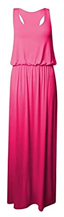 cerise SM 36-38 Princess New Womens Toga Baggy Balloon Racer Muscle Back Weste Style Damen Maxi Kleid