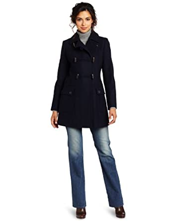 Tommy Hilfiger Women's Fashion Peacoat, Midnight Navy, 6