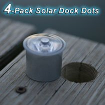 LakeLite 4 Pack Solar Dock Dots (1-3/8