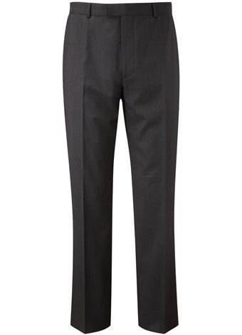 Austin Reed Contemporary Fit Charcoal Pindot Trouser SHORT MENS 38