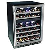 New EdgeStar 46 Btl Built-In Dual Zone Wine Cooler