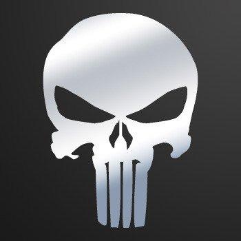 Punisher Skull... Chrome Mirror (09 X 6.5 inch) ZE52W
