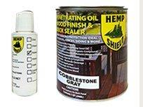 Hemp Shield Quart Wood Finish & Deck Sealer Cobblestone Gray- 4 pack (Hemp Shield Stain compare prices)
