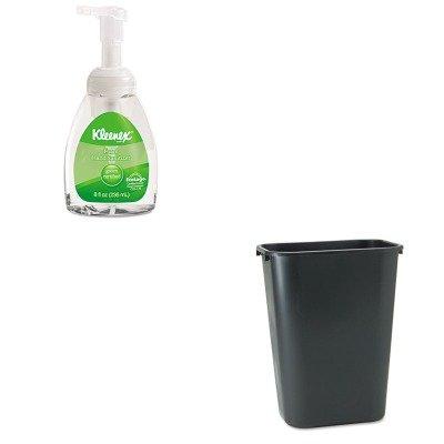 Kitkim33947Earcp295700Bk - Value Kit - Kimberly Clark Kleenex Green Certified Foam Hand Sanitizer (Kim33947Ea) And Rubbermaid Deskside Plastic Wastebasket (Rcp295700Bk) front-1036559