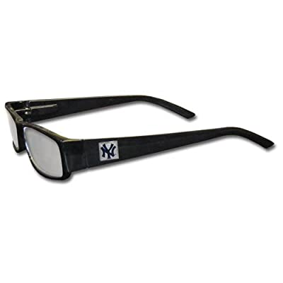 MLB Black Reading Glasses, +2.00, New York Yankees