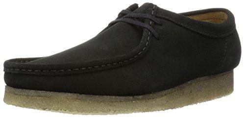 clarks-scarpe-stringate-basse-wallabee-uomo-nero-schwarz-black-sde-40