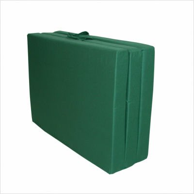 Adult TriFold Hide 'A Mat Poly Cotton  Twin, Hunter Green