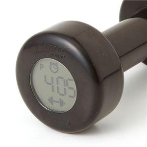 ダンベルアラームクロック【fitness】ベルソス 目覚まし時計 HA3009 メタリックピンク