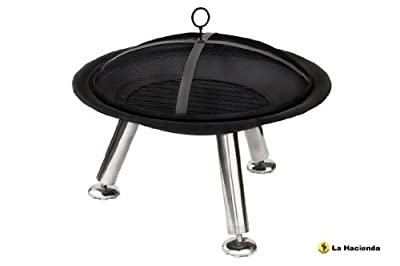 La Hacienda Stamford - Fire Bowl Brazier - Outdoor Garden Heater - Steel Cover by La Hacienda