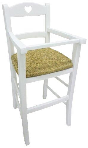 chaise-haute-de-luxe-en-bois-pour-bebe-blanc