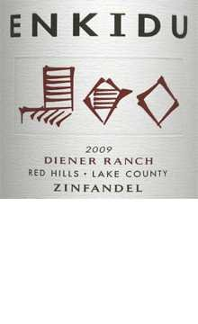2009 Enkidu Zinfandel Red Hills-Lake County Diener Ranch 750Ml