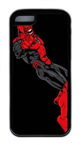 Red Lantern Corps - Rage Leaning Custom Durable Plastic Tpu Rubber Cover Case for iPhone 5C case - Black (Rage Rubber Wig)