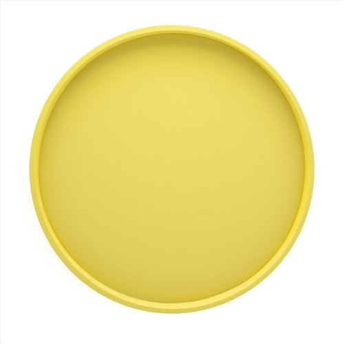 Kraftware Bartenders Choice Fun Colors Collection 14-Inch Round Serving Tray, Lemon (Yellow Tray compare prices)