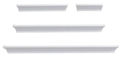 Melannco Wall Shelves (Set of 4), White