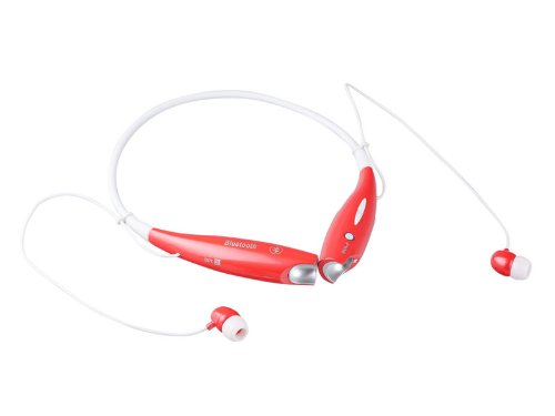 Organe Red Pearl Hv-800 Wireless Bluetooth Music Stereo Universal Headset Headphone Vibration Neckband Style For Iphone Ipad Samsung