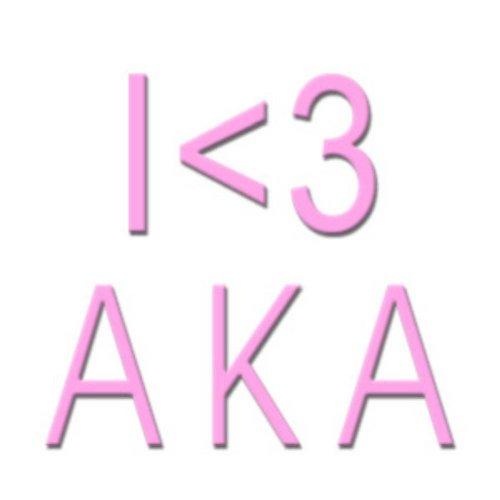 Alpha Kappa Alpha I <3 Screen Printed T-Shirt Design