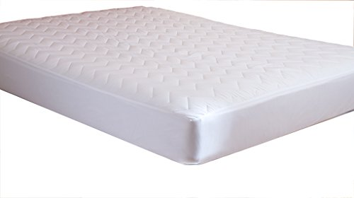 Waterguard - Fitted, Quilted Mattress Pad With 100% Cotton Top - Quiet! - Crib Sizes