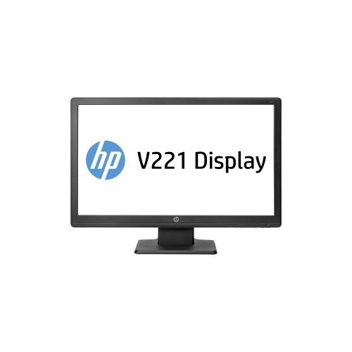 "Hewlett-Packard E2T08Aa#Aba / V221 21.5"" Led Lcd Monitor - 16:9 - 5 Ms Adjustable Display Angle - 1920 X 1080 - 200 Nit - 600:1 - Full Hd - Dvi - Vga - 29 W - Black - China Energy Label (Cel), Energy Star"