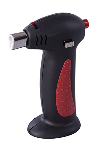 Gourmet Micro Butane Culinary Kitchen Lighter Torch with Red Rubber Grip (Propane Kitchen Torch compare prices)