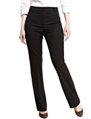 M&S Collection New Wool Rich Modern Bootleg Trousers