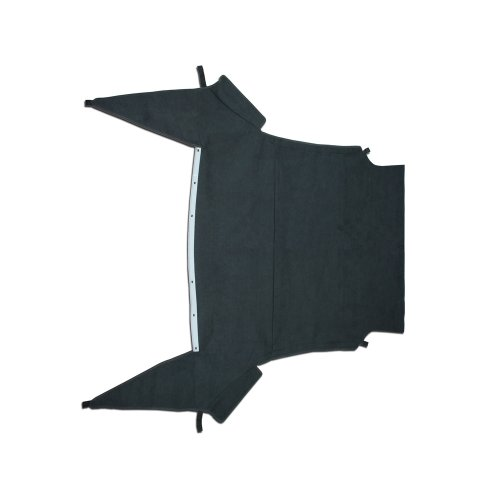 Ford Mustang Convertible Top Headliner in Original Charcoal Velour Cloth with Factory Attachments, 1994-1998 (1995 Ford Mustang Convertible Top compare prices)