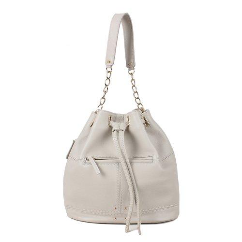 Amazon.co.jp: 【ピンクバッグ】】可愛い本革バッグ レディースバッグ 巾着バッグ 通学バッグ/きんちゃくバッグ (SmogWhite): シューズ&バッグ:通販