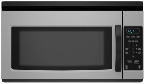 Amana AMV1150VAD 1.5 cu. ft. Over-the-Range Microwave Oven with 1,000 Cooking Watts, 10 Power Levels, Two-Speed Fan/220 CFM Exhaust Hood, Touchmatic Controls and Cooktop Surface Light: Universal Silver