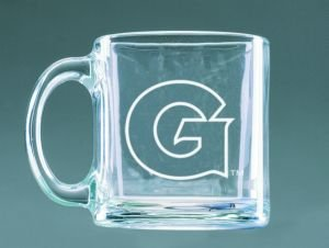 Buy Georgetown Hoyas Deep Etched Clear Glass Mug by Campus Crystal