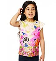 Autograph Girl Print T-Shirt with Modal