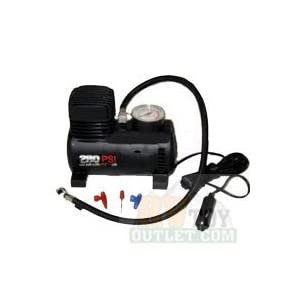 250 PSI 12V Mini Air Compressor 12 Volt Emergency Car and Truck Tire Pump (with adapters to inflate balls, rafts, etc)