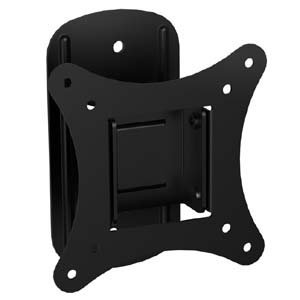 Mount-It! MI-2829 TV Mount For Flat Screens, Tilting TV Wall Mount Bracket Fits up to 25 Inch LCD, LED TVs and Computer Monitors VESA 75 and 100 Compatible Swivel Low-Profile Slim Design, 44 Lb Limit