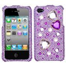 Love Crash Diamante Phone Protector Faceplate Cover For APPLE iPhone 4S/4/4G