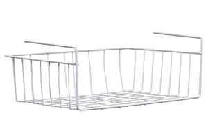 Premier Housewares Under Shelf Storage Basket - 39 cm - White