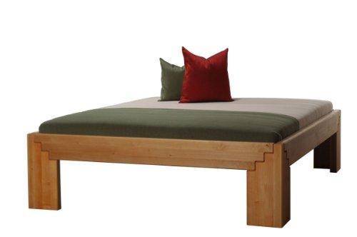 Massivholzbett-Beta50-Erle-natur-gelt-metallfrei-Komforthhe-Gre180-x-200-cm