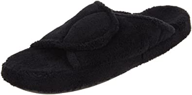 ACORN Women's New Spa Slide Slipper,Black,Small/5-6 M US