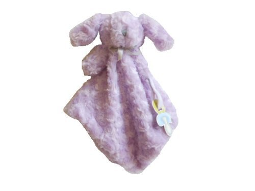 Blankets & Beyond Purple Rosette Nunu Pacifier Holder