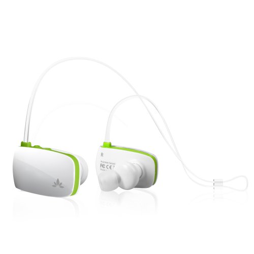 Avantree Sacool Bluetooth Wireless Noise Isolating In Ear Headphones / Headsets With Mic For Handsfree Music And Talking - White / Green