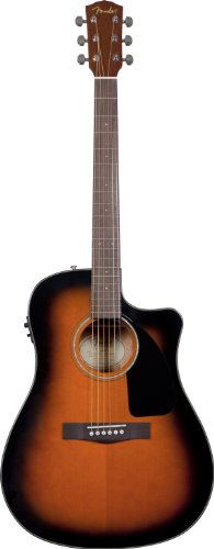 Fender CD-60CE Acoustic Electric Guitar with Case, Sunburst