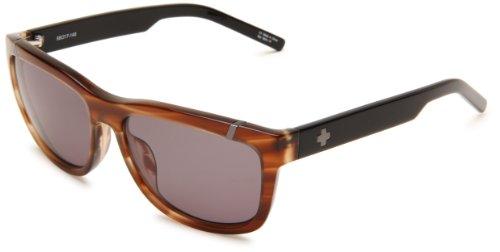 Spy Optic Murena 671012384133 Round Sunglasses,Cedar Black Frame/Grey Green Lens,One Size