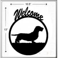 Wirehair Dachshund Welcome Sign