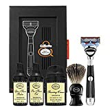 The Art of Shaving Fusion Chrome Collection - Proglide Power Set 6 piece