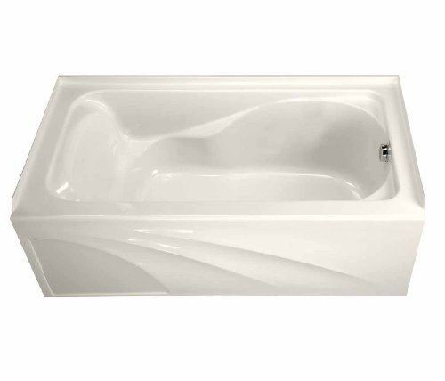 American Standard 2776.102.222 Cadet Bath Tub with Integral Apron and Right-Hand Outlet, Linen