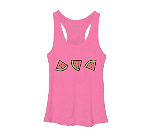 Meyee Nadigt Chunks of Watermelon Women's Racerback Tank Top - Design By Humans
