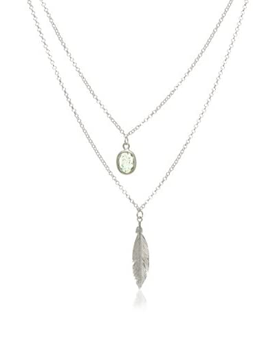 Cordoba Joyeros Set catenina e pendente Indian Emerald