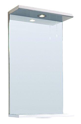 Good ICE White Gloss Bathroom Cloakroom En suite Mirror Shelf u Light