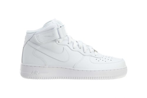 Nike Men's Air Force 1 Mid '07 White/White Basketball Shoe 9 Men US (9 D(M) US, White / White) (Nike Air compare prices)